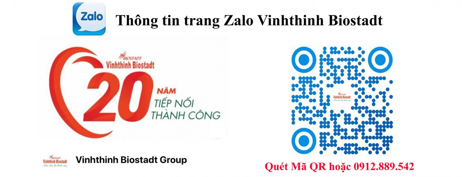 Thông tin trang Zalo Vinhthinh Biostadt