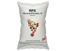 NPK 16- 16- 8- 11S- 3SiO2+ TE (1 MÀU)