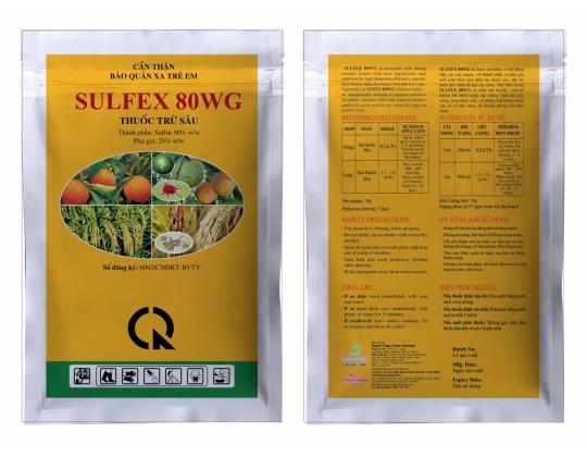 Thuốc trừ nhện và nấm bệnh Sulfex 80WG
