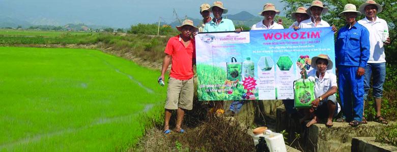 Wokozim đã được sử dụng hiệu quả trên hơn 40 loại cây trồng và hơn 20 quốc gia trên thế giới