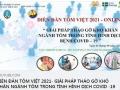 Diễn đàn tôm Việt 2021 - Giải pháp tháo gỡ khó khăn ngành tôm trong tình hình dịch bệnh COVID-19.